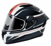 ZS 601 STAR WHITE GREY RED GLOSSY